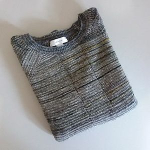 CJ Banks Plus Size Green Crew Neck Sweater